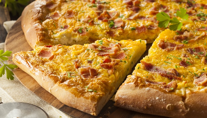 Breakfast pizza should be added to your menu for 2018